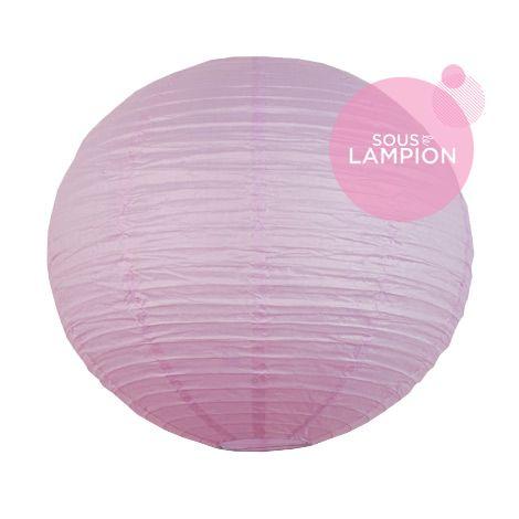Grande lanterne en papier mauve clair pour une décoration de plafond de mariage ou deco maison