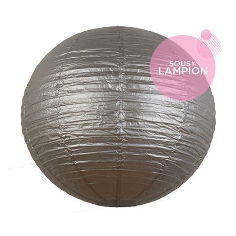 Grande lanterne en papier argent pour une décoration de plafond de mariage ou deco maison