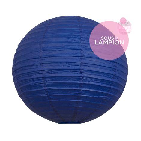 Grande lanterne en papier bleu foncé pour une décoration de plafond de mariage ou deco maison