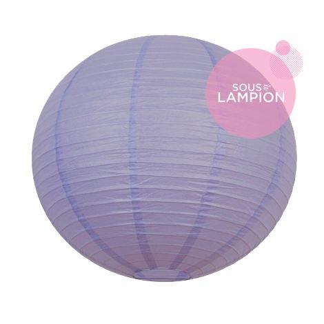 Grande lanterne en papier violet pour une décoration de plafond de mariage ou deco maison