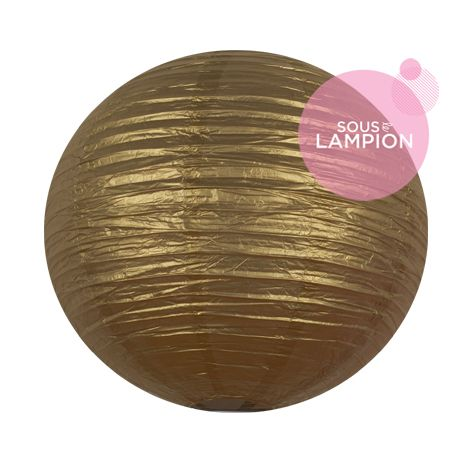 Grande lanterne en papier doré pour une décoration de plafond de mariage ou deco maison