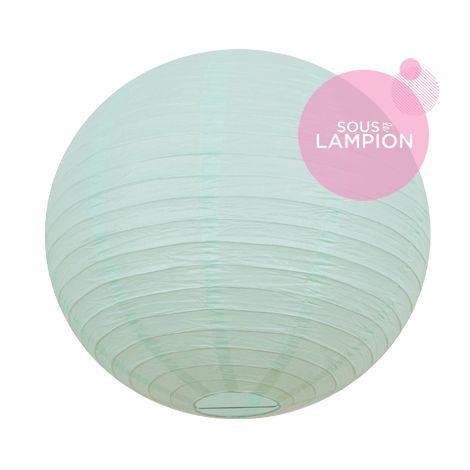 Grande lanterne en papier menthe pastel pour une décoration de plafond de mariage ou deco maison