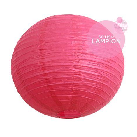 Grande lanterne chinoise rose flamingo