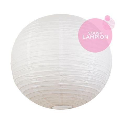 Très grande lanterne en papier blanc pour une décoration de tente ou chapiteau de mariage