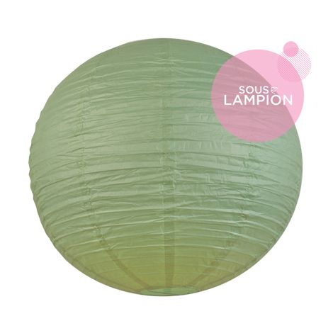 Très grande lanterne en papier vert pour une décoration de tente ou chapiteau de mariage