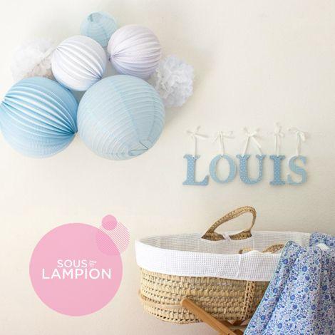 Décoration murale pour chambre bleu de bébé ou petit garçon