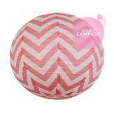 Chevron paper lantern - 66cm - Blush