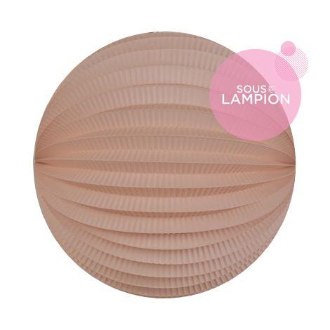 Lampion papier rose pastel pour un anniversaire ou une chambre d'enfant