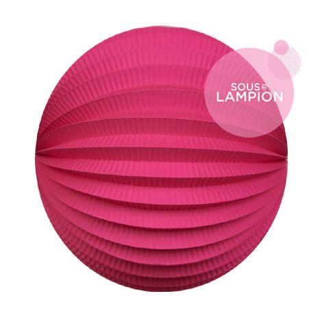 Lampion papier rose fluo pour un anniversaire ou une chambre d'enfant