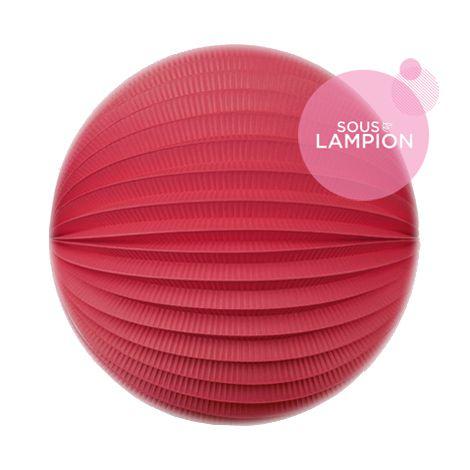 Lampion papier rouge rosé pour un anniversaire ou une chambre d'enfant