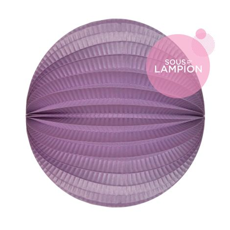 Accordion lantern - 20cm - Frosted lilac