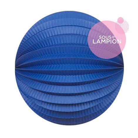 Lampion papier bleu marine pour un anniversaire ou une chambre d'enfant
