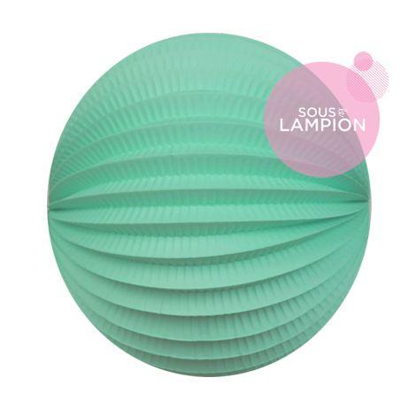 Lampion papier vert menthe pour un anniversaire ou une chambre d'enfant