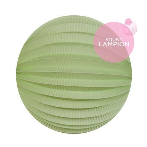 Lampion papier vert céladon pour un anniversaire ou une chambre d'enfant
