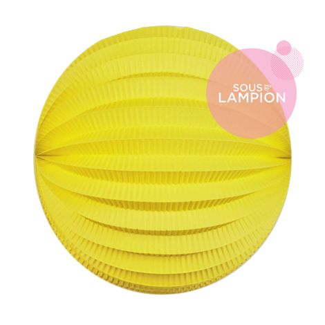 Accordion paper lantern - 20cm - New yellow
