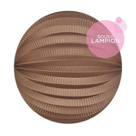 Lampion papier marron cuivré pour un anniversaire ou une chambre d'enfant