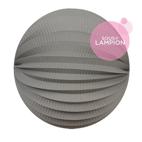 Accordion lantern - 20cm - Cumulus grey