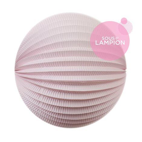 Grand lampion papier rose pâle pour un anniversaire d'enfant zero dechet