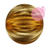 Accordion lantern - 30cm - Gold metallic