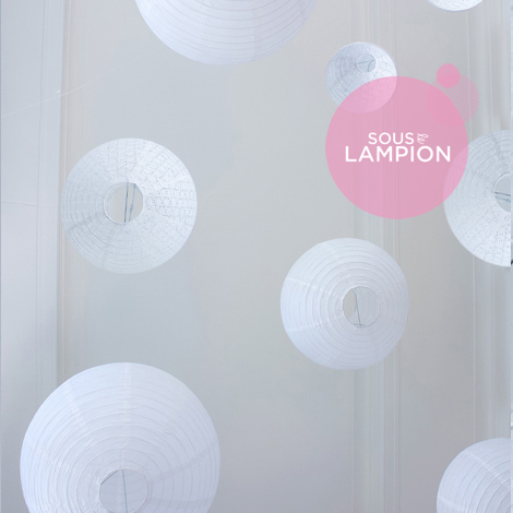 white wedding paper lantern set in designer quality