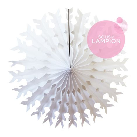 Paper snowflake - 56cm - White