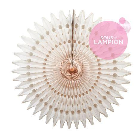 Honeycomb fan - 53cm - Vanilla whipped cream