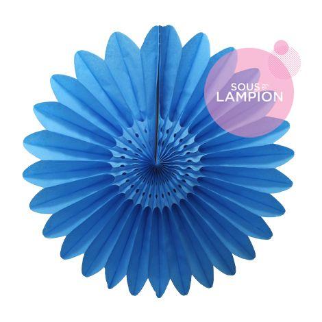 Paper fan - 45cm - Azur