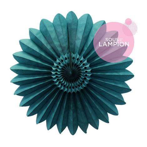 Paper fan - 45cm - Velvet green
