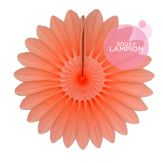 Paper fan - 35cm - Peach smoothie