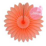 Petite rosace en papier orange pêche pour une déco murale fille