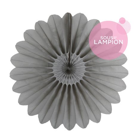 Paper fan - 45cm - Cumulus grey