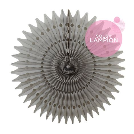 Honeycomb fan - 53cm - Cumulus grey