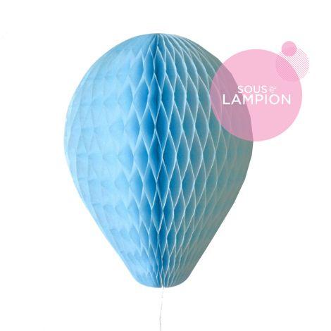 Ballon en papier bleu ciel pour une décoration de fête ou baby shower