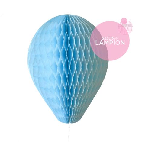 Honeycomb balloon - 30cm - Baby blue