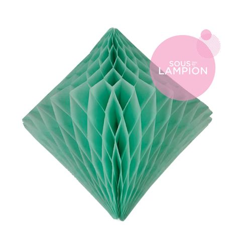 Honeycomb diamond - 30cm - Frosted mint