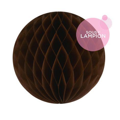 Boule en papier marron pour une décoration d'anniversaire zéro déchet
