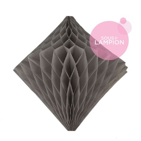 Honeycomb diamond - 30cm - Cumulus grey