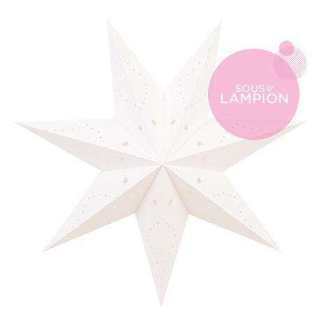 petite étoile en carton blanc pour décorer une chambre de bébé