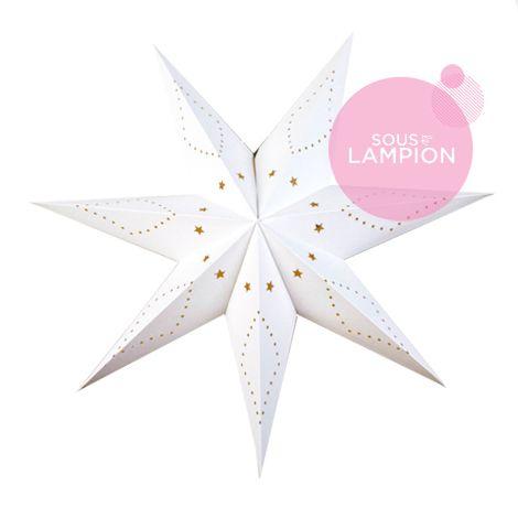 Grande étoile déco de noël en carton blanc