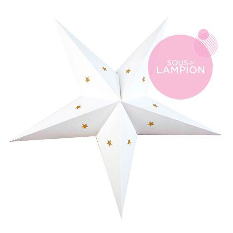 Etoile en carton blanc pour une décoration diy de chambre d'enfant