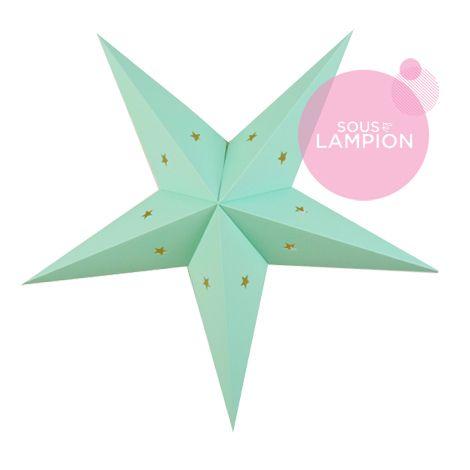 etoile en carton vert menthe pour une décoration diy de chambre d'enfant