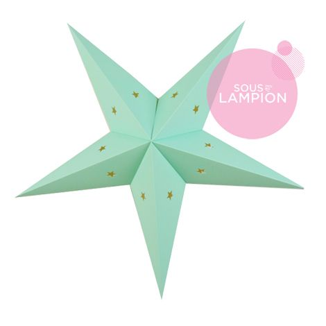 Star lantern - 60cm - Mint bubble