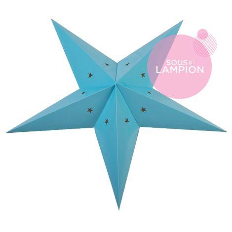etoile en carton bleu pour une décoration diy de chambre d'enfant