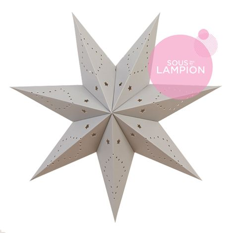 Polar star - 45cm - Cumulus grey