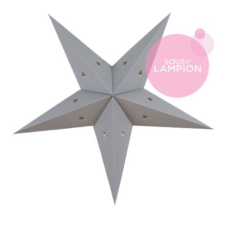 Etoile en carton gris pour une décoration DIY de chambre d'enfant