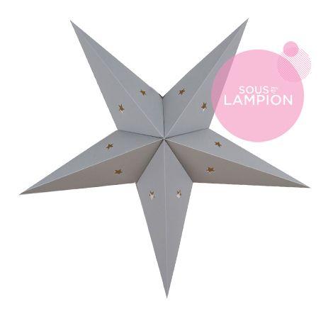 Star Lantern - 60 cm - Cumulus grey