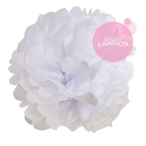 Paper pompom - 20cm - White