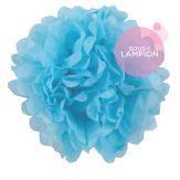 Paper pompom - 25cm - Baby blue