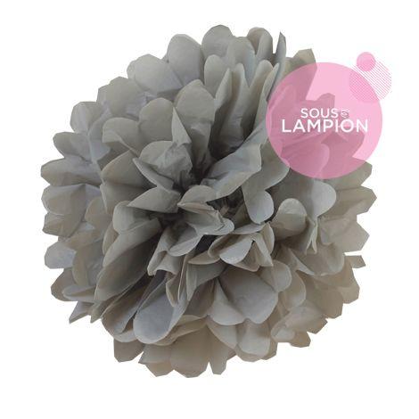 Paper pompom - 25cm - Cumulus grey