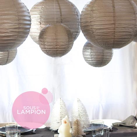 Décoration de table et buffet de réveillon - Sous Le Lampion